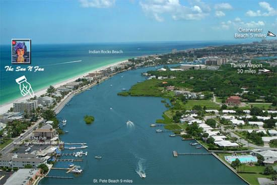 Beachfront Rentals Aerial View
